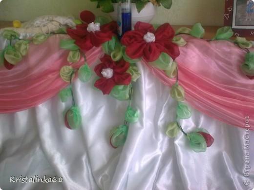 Юбка на свадебный стол фото 2