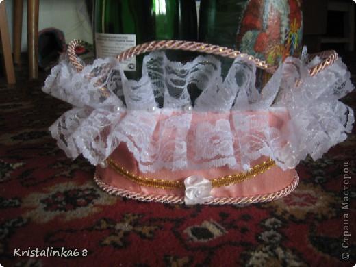 Корзинка для свадебных бутылок