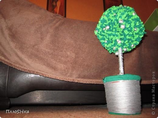 """Здравствуйте, дорогие мастера и мастерицы!  Да, я знаю, что это деревце счастья называется ТОПИАРИЙ, просто на работе, да и мои домашние не хотят запоминать мудреное название (что в нём мудреного?...) и все, как один, называют моё творение ТОПИНАМБУР. Поэтому я и смирилась... пусть будет ТОПИНАМБУР.  Так вот...  Давно я любовалась прекрасными топиариями на этом сайте... Да вот повода взяться за это дело никак не было. Но - нашелся повод, причем отличнейший. Сегодня (11.07.2012) у моих любимых мамочки и папочки (♥) годовщина свадьбы, да не просто годовщина, а СЕРЕБРЯНАЯ СВАДЬБА, 25 лет семейной жизни. А что родители могут хотеть в подарок от своего детёнка? Точно уж не дорогие бездушные подарки, типа """"помню про вас, только отстаньте""""... Было нужно что-то другое... Очень кстати набрела на отличный мастер-класс: http://stranamasterov.ru/node/31870?c=favorite, Kukushechka, огромное спасибо!  Так как свадьба серебряная, вариант с мандаринками-апельсинками отвергла сразу, но идея серебряного топиария уже начала складываться у меня в голове.   Не претендую на серьезный мастер-класс, но, думаю, мой опыт по созданию деревца кому-нибудь может пригодиться, особенно начинающим, ленивым и тем, у кого нет много времени и никаких специальных штук. Поэтому - микро МК. Если он лишний - скажите - уберу.  Времени было мало, идея посетила меня практически в последний момент - за 2 дня до годовщины... Но я не из тех, кто просто сдается. фото 14"""