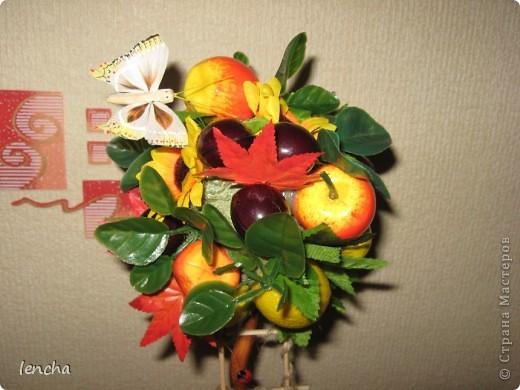 И вновь, здравствуйте, мои дорогие жители СМ!!!!!!!! У меня сегодня ещё один фруктовый топиарчик. фото 2