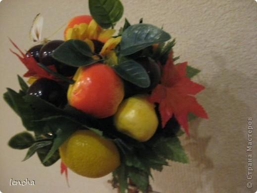 И вновь, здравствуйте, мои дорогие жители СМ!!!!!!!! У меня сегодня ещё один фруктовый топиарчик. фото 7
