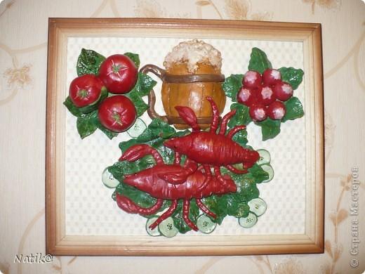 Виноград+подсолнухи+раки (тесто солёное) фото 6