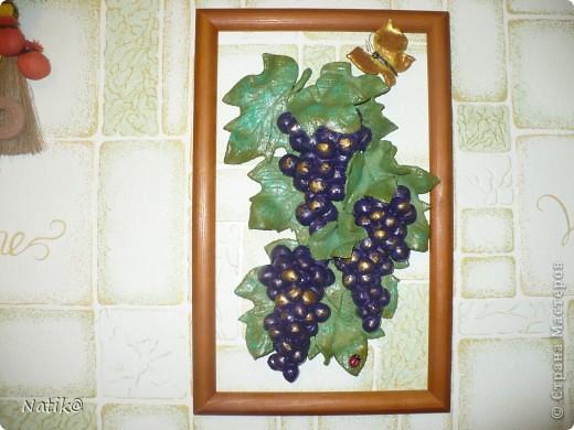 Виноград+подсолнухи+раки (тесто солёное) фото 1