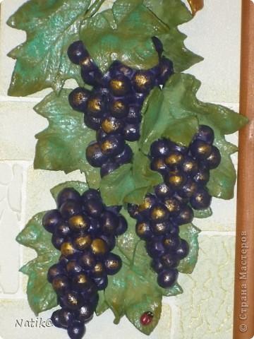 Виноград+подсолнухи+раки (тесто солёное) фото 2