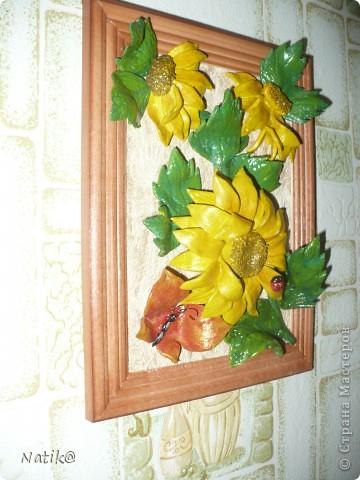 Виноград+подсолнухи+раки (тесто солёное) фото 5