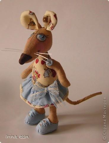 Добрый всем вечер или утро, или день ))))) Познакомьтесь -   у меня поселилась еще одна маленькая, но очень храбрая и воображулистая мышка )))  фото 2