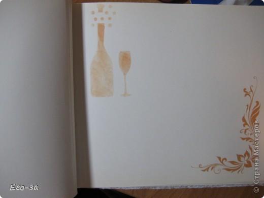 Второй мой свадебный альбом для пожеланий молодожёнам. Розы из лент на обложке. фото 9