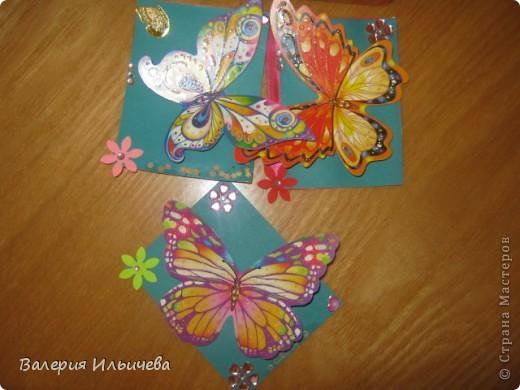 Вот такие объемные бабочки.Карточки АТС. Приглашаю: http://stranamasterov.ru/user/93460  http://stranamasterov.ru/user/102055 С удовольствием обменяюсь на карточки АТС, наклейки,скрапности,дырокольчики и прочие штуки для рукоделия. фото 1