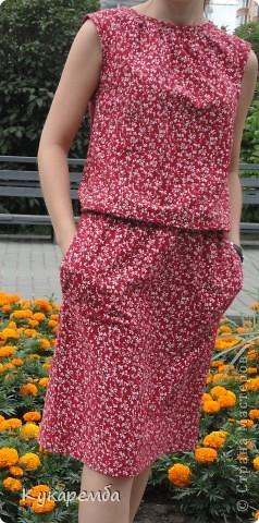"""Платье сшито по """"Бурде"""" № 4 за 2011 год. очень простое в пошиве и удобное в носке фото 1"""