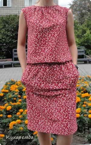 """Платье сшито по """"Бурде"""" № 4 за 2011 год. очень простое в пошиве и удобное в носке фото 2"""