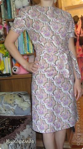 """Платье сшито по """"Бурде"""" № 4 за 2011 год. очень простое в пошиве и удобное в носке фото 3"""