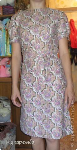 """Платье сшито по """"Бурде"""" № 4 за 2011 год. очень простое в пошиве и удобное в носке фото 4"""