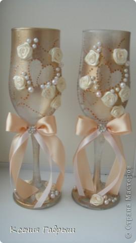 Свадебные бокальчики фото 1