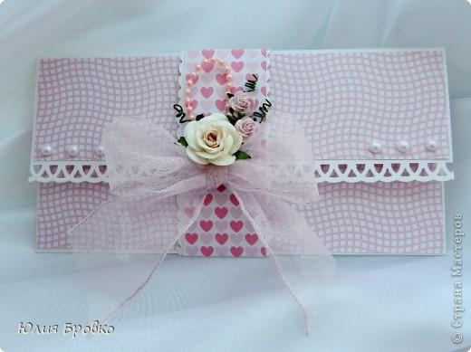 Приветик всем )) Вот снова у меня получился розовый конвертик )) фото 2