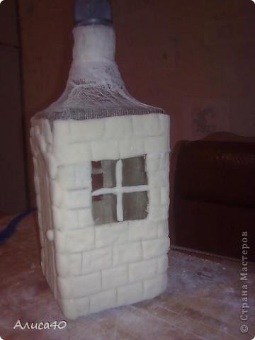 Мастер-класс Поделка изделие Лепка Дом бусинки  Бутылки стеклянные Тесто соленое фото 5