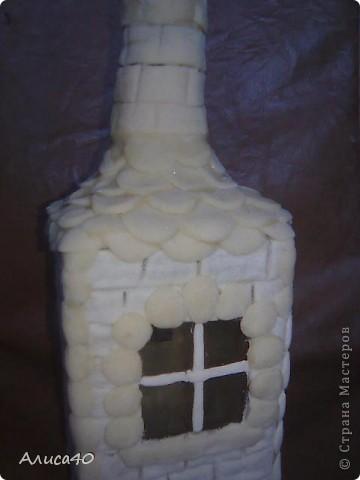 Мастер-класс Поделка изделие Лепка Дом бусинки  Бутылки стеклянные Тесто соленое фото 6