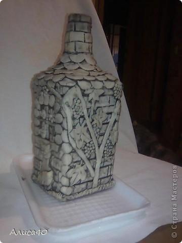 Мастер-класс Поделка изделие Лепка Дом бусинки  Бутылки стеклянные Тесто соленое фото 7