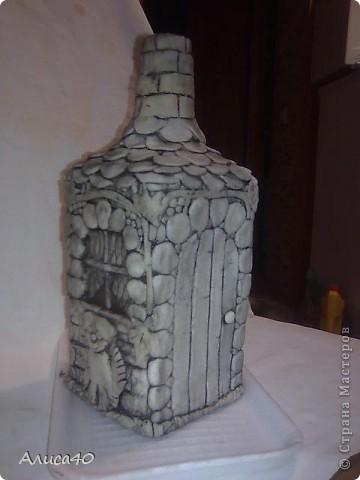Мастер-класс Поделка изделие Лепка Дом бусинки  Бутылки стеклянные Тесто соленое фото 8