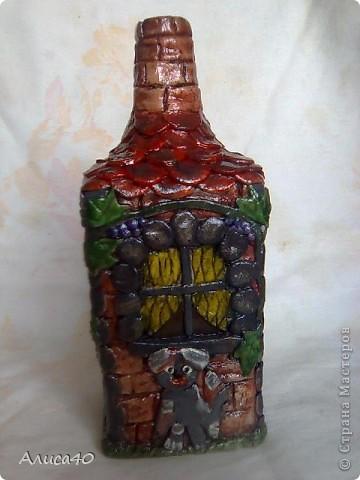 Мастер-класс Поделка изделие Лепка Дом бусинки  Бутылки стеклянные Тесто соленое фото 10