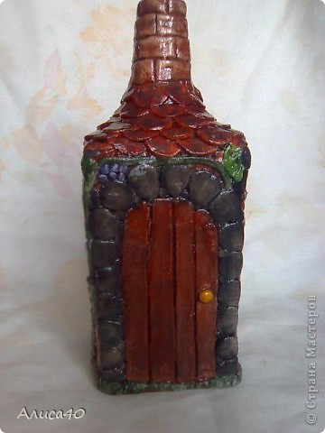 Мастер-класс Поделка изделие Лепка Дом бусинки  Бутылки стеклянные Тесто соленое фото 12