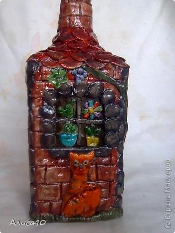 Мастер-класс Поделка изделие Лепка Дом бусинки  Бутылки стеклянные Тесто соленое фото 1