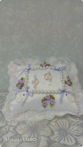 Подушечка для колец на свадьбу сестрички фото 2