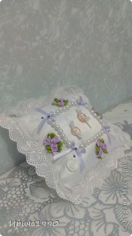 Подушечка для колец на свадьбу сестрички фото 1
