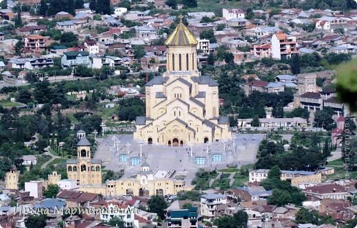 вид на р.Куру и Тбилиси со стен старинной крепости фото 13