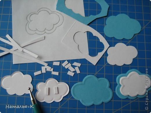 Облако из бумаги поделка