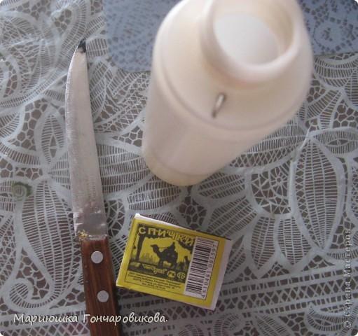В такой пластиковой бутылочке у меня стоят спицы, крючки, ножницы. фото 4