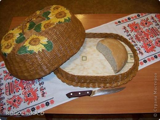 Предлагаю Вашему вниманию мои хлебницы. Нашло на меня такое вдохновение и вот что из этого получилось. Моя первая хлебница. Размер- 25х39 см. фото 2