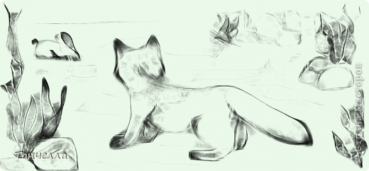 Ой, как же я благодарна ЛИЛЕ В КЕДАХ за ссылочку на программу Harmony (Гармония). Всё - все дела заброшены!!! Всей семьей сидим, рисуем. Вот что у меня получилось...  Попробовала изобразить кота, но что-то хвостик больше на лисий смахивает. Не беда - значит будет не котёнок, а лисёнок!  фото 2