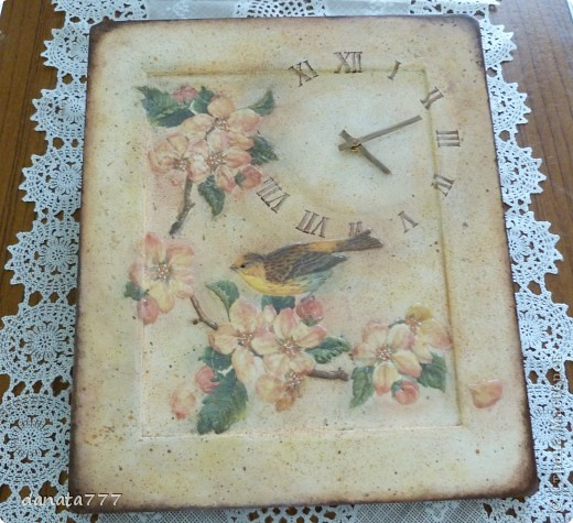 """Часы """"Пел соловей, цветы благоухали..."""" фото 1"""