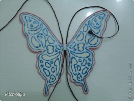 проволока краски акриловые контур верёвочка (у меня плетёная косичка из пряжи) ПВА нитки фото 11