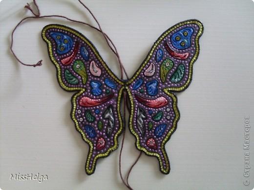 проволока краски акриловые контур верёвочка (у меня плетёная косичка из пряжи) ПВА нитки фото 1