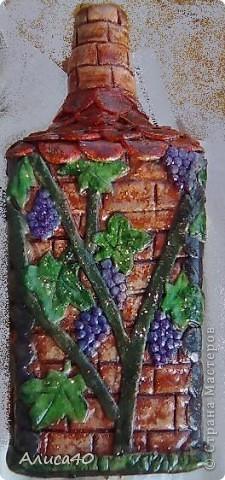 Мастер-класс Поделка изделие Лепка Дом бусинки  Бутылки стеклянные Тесто соленое фото 9