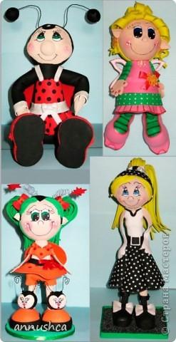Эти кукла выполнены в стиле E.V.A из так называемой пористой резины Дальше фото каждой куклы по отдельности фото 1