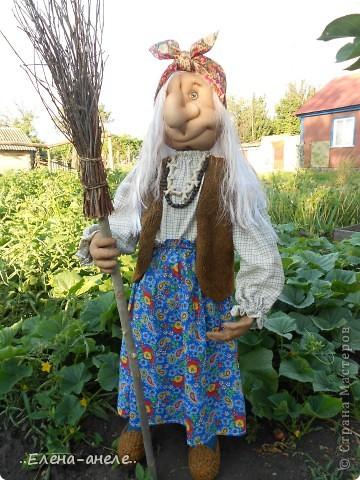 Решила сделать Бабусю-Ягусю на огород. Молодая получилась фото 2
