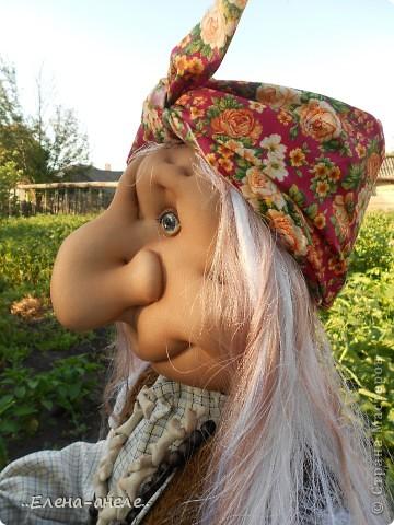Решила сделать Бабусю-Ягусю на огород. Молодая получилась фото 3
