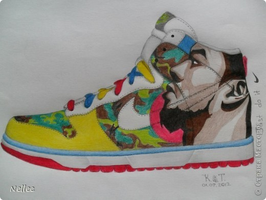Группа Nike в контакте объявила конкурс на рисунок их модели. Моя доченька Катюшка этот конкурс выиграла, делюсь радостью с вами)))