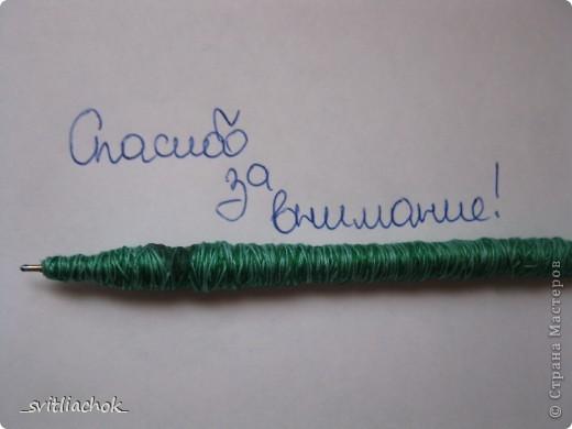 Привет всем! Вот такую ручку я сделала. Я даже её использую как декор интерьера. фото 5
