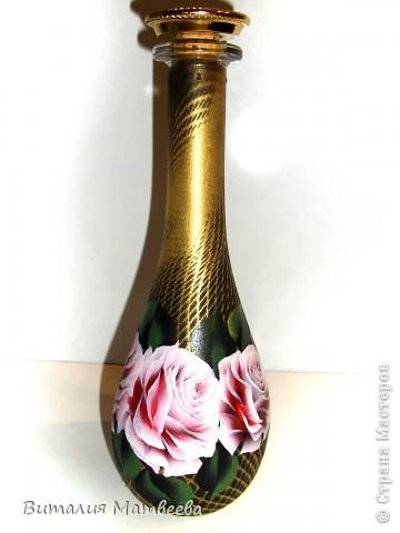 """Штоф """" Розовые розы"""" фото 1"""