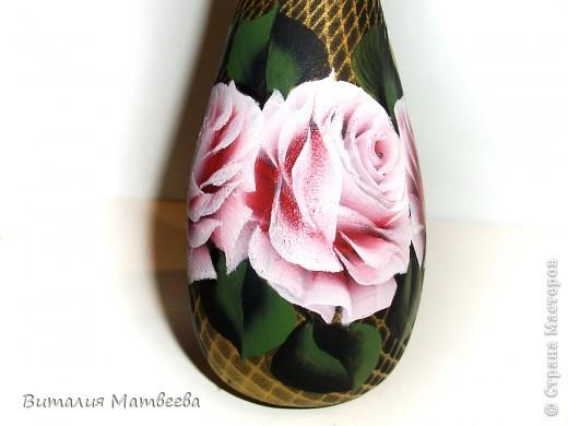"""Штоф """" Розовые розы"""" фото 6"""