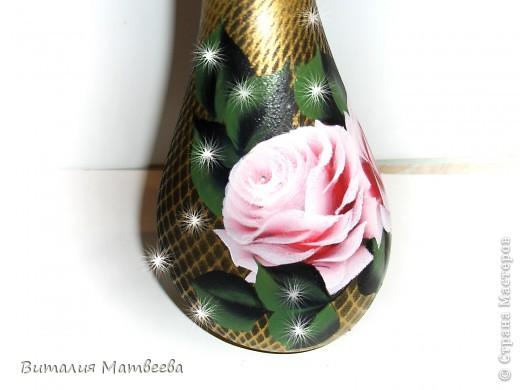 """Штоф """" Розовые розы"""" фото 8"""