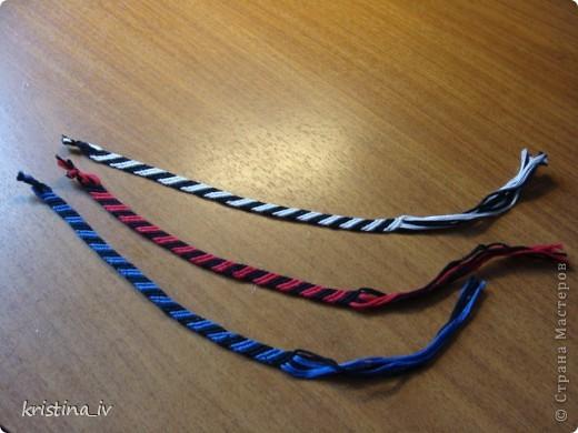 Поделка изделие Украшение День рождения Плетение Фенечки из 8 нитей Нитки фото 1.