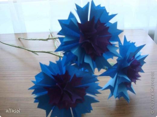 Поделка цветок василек