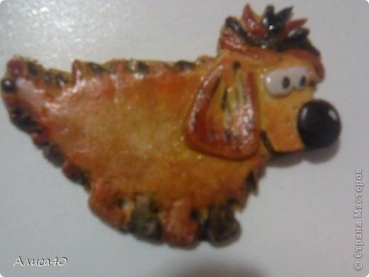 Нравится мне с соленым тестом возиться) были рыбки, кони и лев. Теперь вот стайка собак.... фото 3