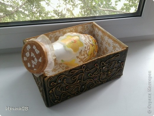 ваза-бутылка с яичным кракле и стекловидной пастой фото 4