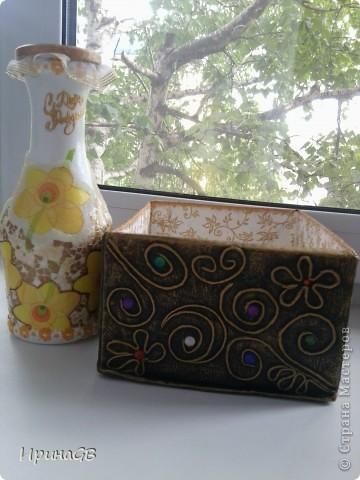 ваза-бутылка с яичным кракле и стекловидной пастой фото 3