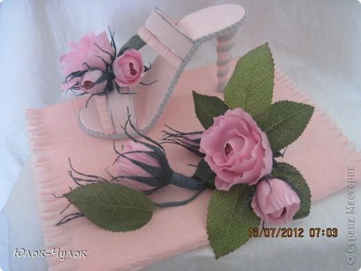 наконец-то осуществилась моя мечта - сделать туфельку! туфелька делалась на День рождения 17- летней девушки.   фото 2